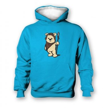 Cute Ewok kids contrast hoodie  - Inspired by Star Wars