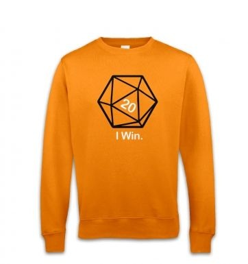 D20 I Win sweatshirt