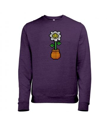 8-Bit Daisy men's heather sweatshirt