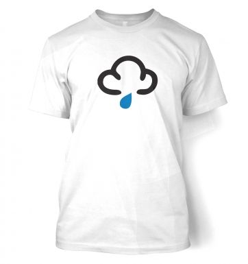 Weather Symbol Dark Clouds with Showers t-shirt