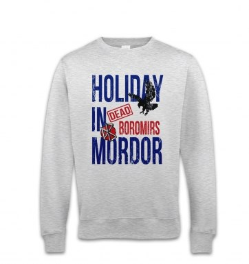 Dead Boromirs Holiday In Mordor sweatshirt