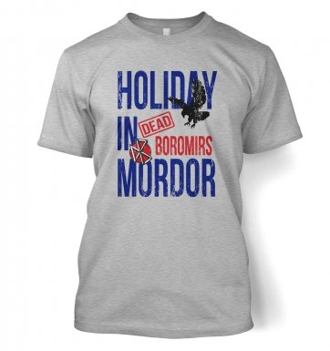 Dead Boromirs Holiday In Mordor t-shirt