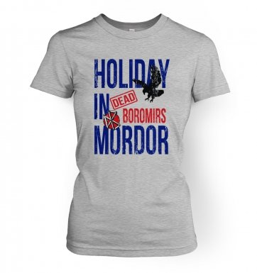 Dead Boromirs Holiday In Mordor women's t-shirt