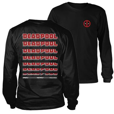 Deadpool Fade Out Logo long sleeved t-shirt - Official