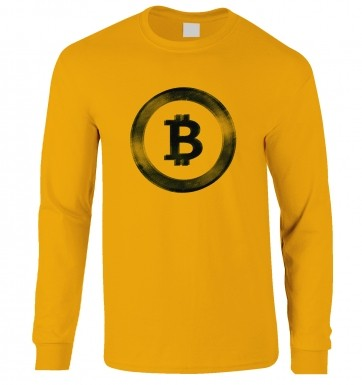 Distressed Bitcoin long-sleeved t-shirt
