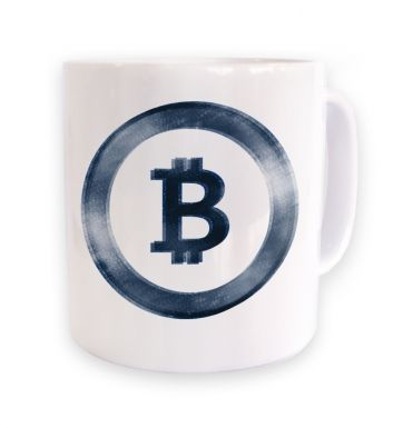 Distressed Bitcoin mug