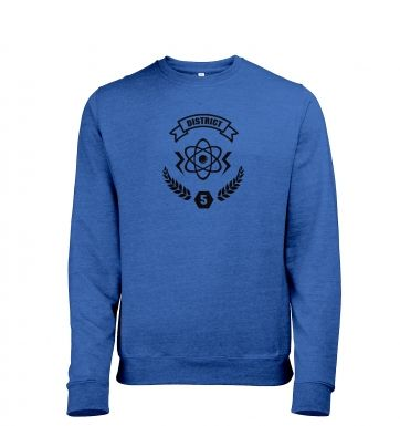 District 5 heather sweatshirt