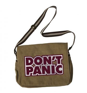 Don't Panic Ford Prefect (maroon) messenger bag