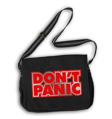 Don't Panic Ford Prefect (red) messenger bag
