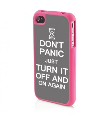 Don't Panic Just Turn It Off And On Again (WHITE) Apple iPhone 4/4s Phone case