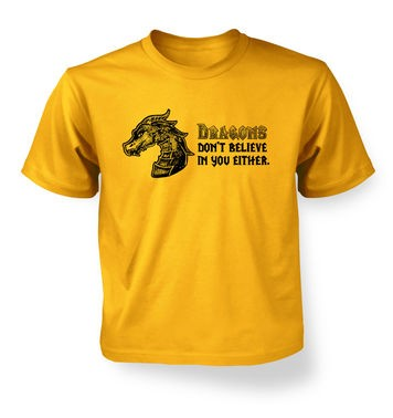 Dragons Don't Believe In You kids t-shirt
