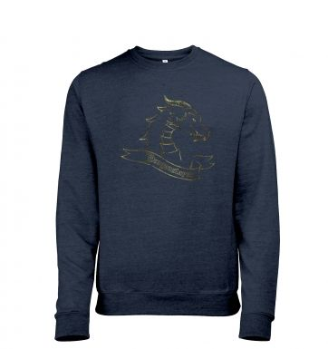 Gold Dragonslayer heather sweatshirt