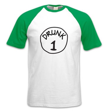 Drunk 1 short-sleeved baseball t-shirt