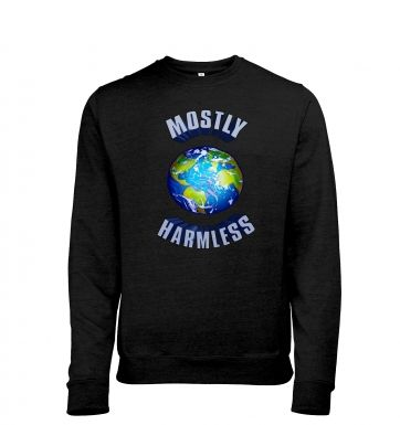 Earth Mostly Harmless heather sweatshirt