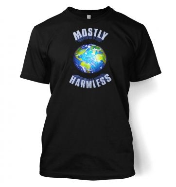 Earth Mostly Harmless men's t-shirt