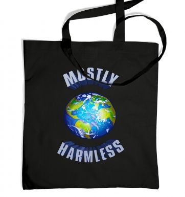 Earth Mostly Harmless tote bag