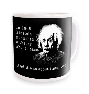 Einstein Had A Theory black background mug