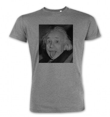 Einstein Tongue premium t-shirt