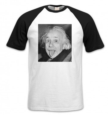 Einstein Tongue short-sleeved baseball t-shirt