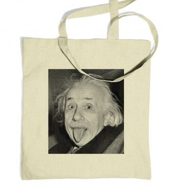 Einstein Tongue tote bag