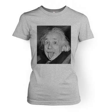 Einstein Tongue women's t-shirt