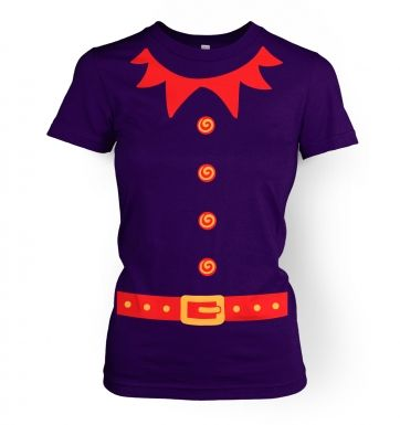 Elf Ladies' T-shirt (red detail)