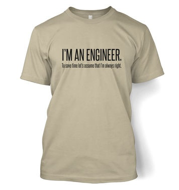 Engineer Always Right t-shirt