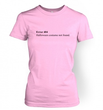Error 404 Halloween Costume Not Found women's t-shirt