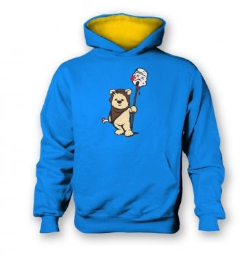 Evil Ewok kids contrast hoodie  Inspired by Star Wars