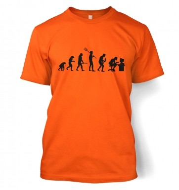 Evolution of a geeky man (black detail) t-shirt
