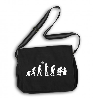 Evolution Of A Geeky Man messenger bag
