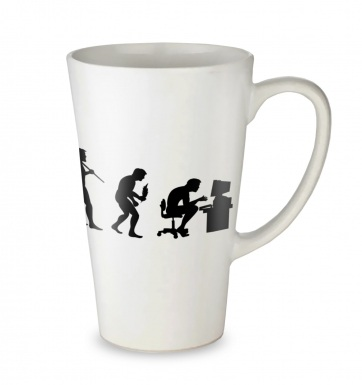 Evolution Of A Geeky Man tall latte mug