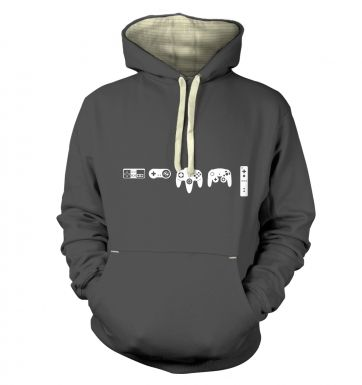 Evolution Of Nintendo premium hoodie