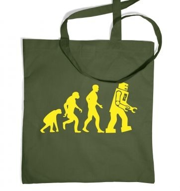 Evolution of Robots tote bag