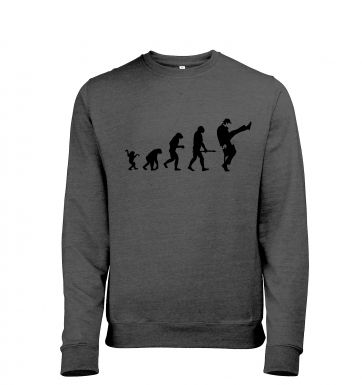 Evolution Of Silly Walks heather sweatshirt
