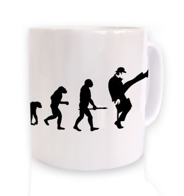 Evolution Of Silly Walks mug