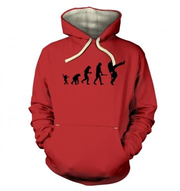 Evolution Of Silly Walks premium hoodie