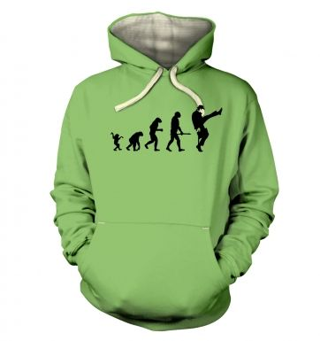 Evolution Of Silly Walks  hoodie (premium)