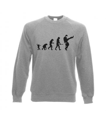 Evolution Of Silly Walks crew-neck sweatshirt