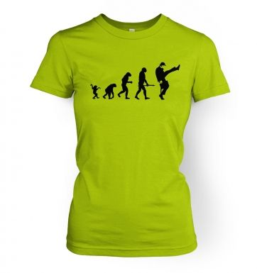 Evolution Of Silly Walks  womens t-shirt