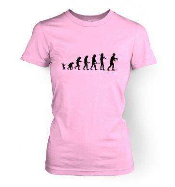 Evolution Of Zombies   womens t-shirt