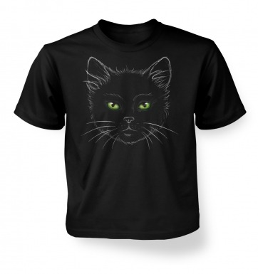 Eyes Of The Cat kids' t-shirt (black)