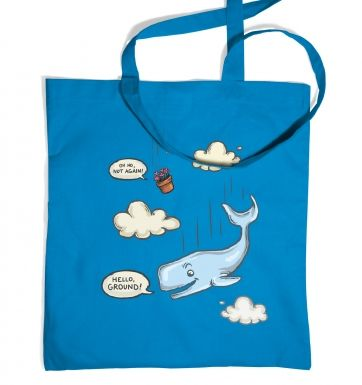 Falling Whale tote bag