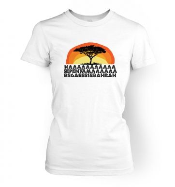 Famous African Singing  womens t-shirt