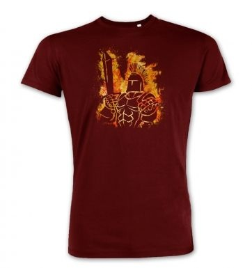 Fantasy RPG Fiery Knight premium t-shirt