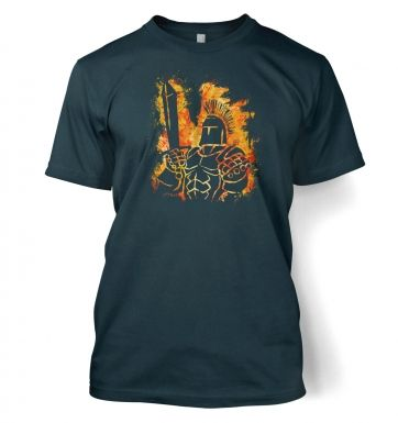 Fantasy RPG Fiery Knight t-shirt