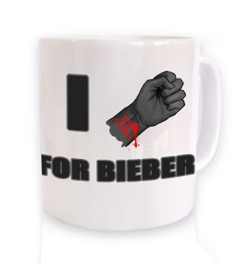 Fist I Cut For Bieber mug