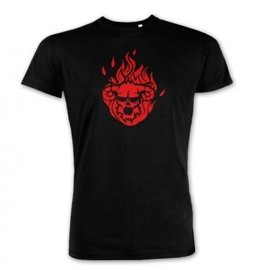 Flaming Demon's Head Premium t-shirt