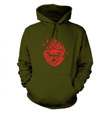 Flaming Demon's Head hoodie