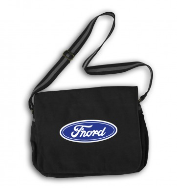 Fnord (logo) messenger bag